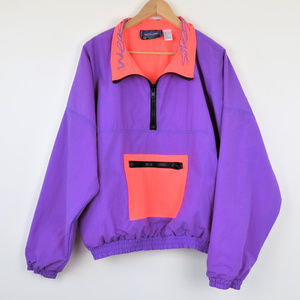 1990s Neon Ski Jacket Windbreaker Pullover